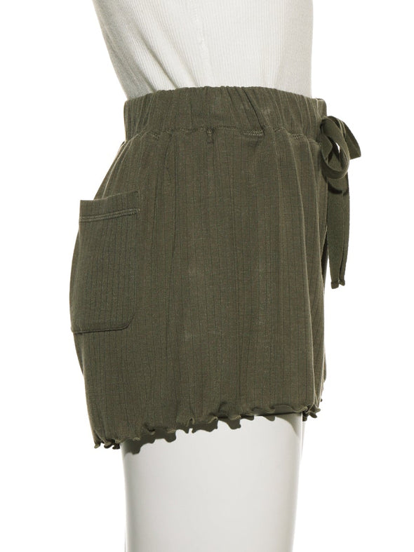 Micro Modal Ribbed Shorts