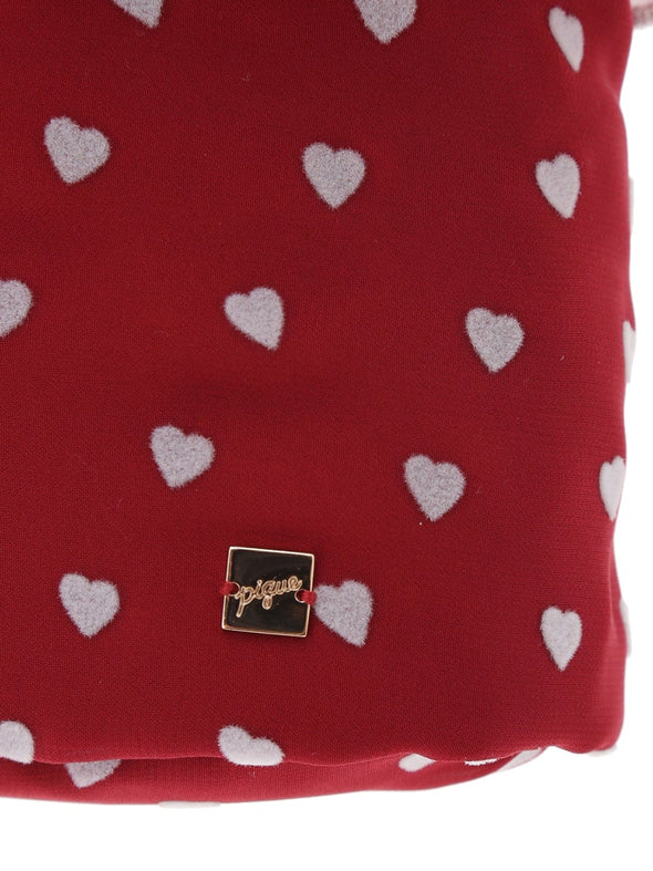 Heart Frocked Vanity Pouch