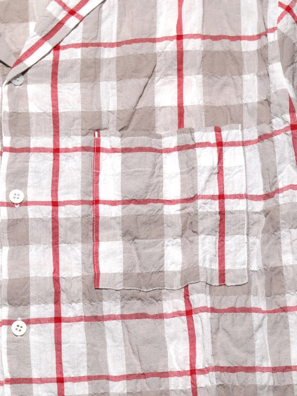HOMME Check Button Up Shirt