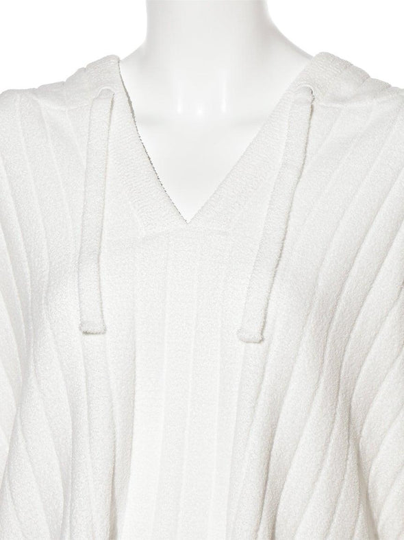 Airy Knitted Ribbed Pullover