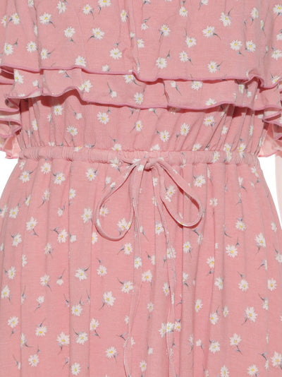 Small Flower Pattern Dress (PWCO182320)