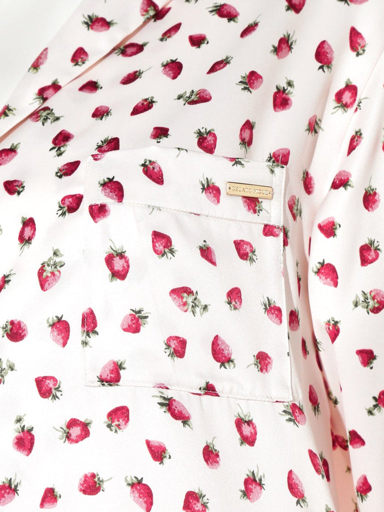 Strawberry Satin Shirt (PWFT185231)