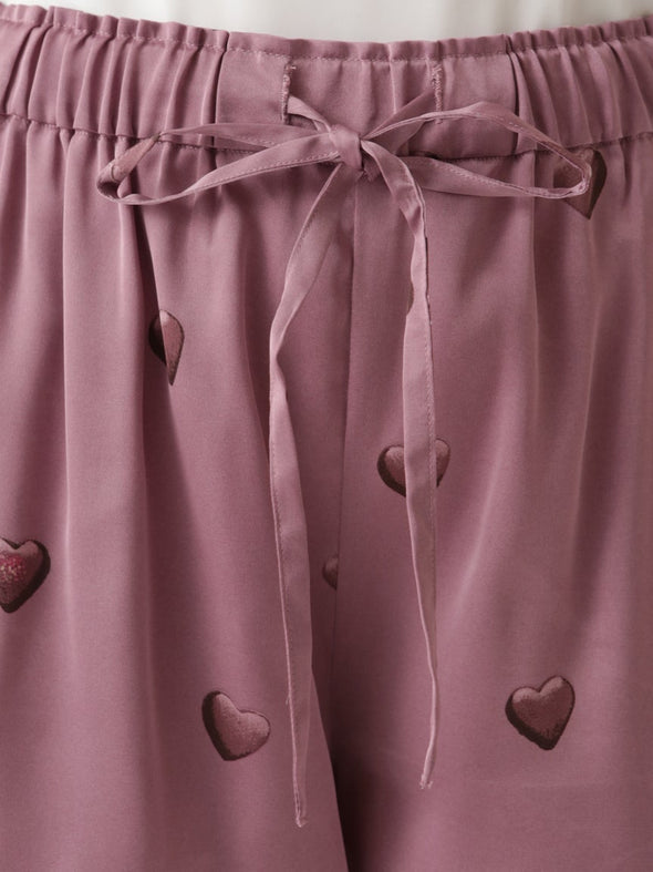 Heart-Shaped Chocolate Short Pants