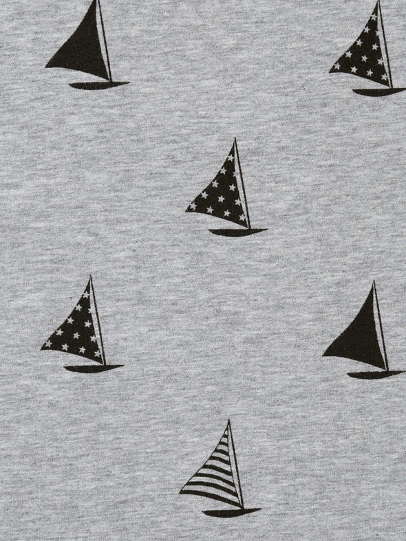 HOMME Yacht Pattern Henry Neck Pullover