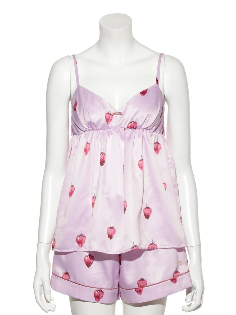 Strawberry Chocolate Satin Camisole (PWFT191256)