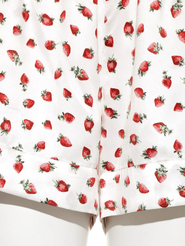 Strawberry Satin Shorts