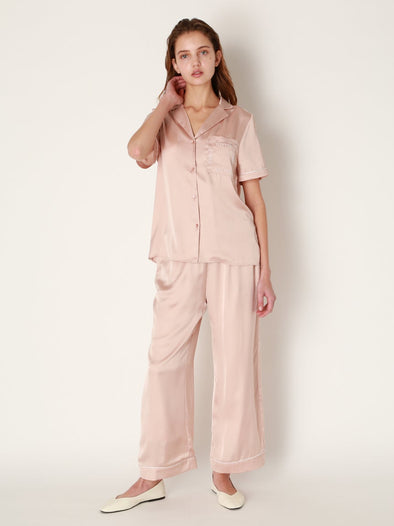 Logo Satin Long Pants