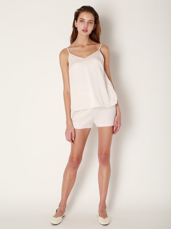 Scalloped Rose Satin Camisole