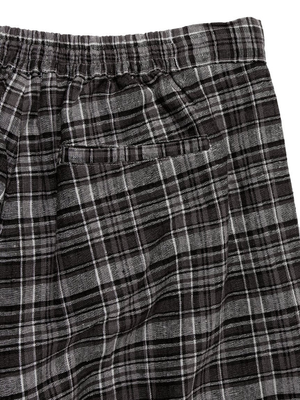 HOMME Plaid Long Pants