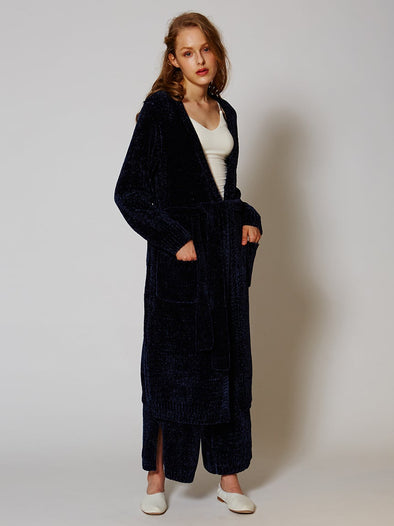 Velor Long Cardigan