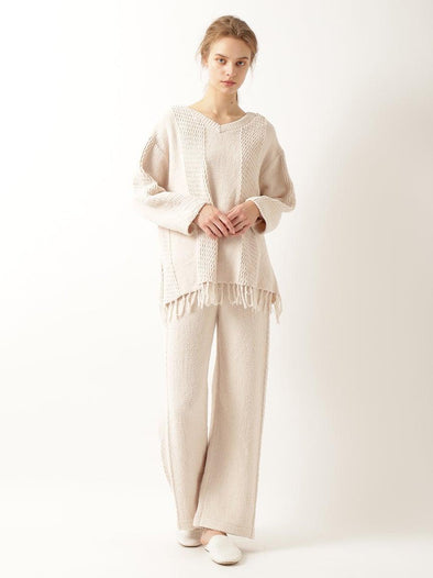 'Airy Moco x Cotton' Fringe Pullover