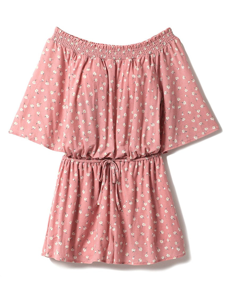 Small Flower Pattern Romper (PWCO182319)