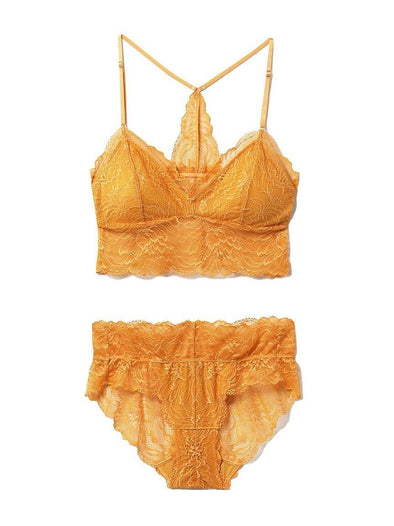 Flower Lace Bra & Shorts SET