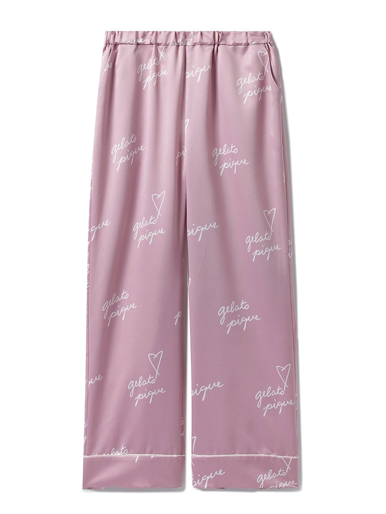 Heart Logo Satin Pants (PWFP185330)