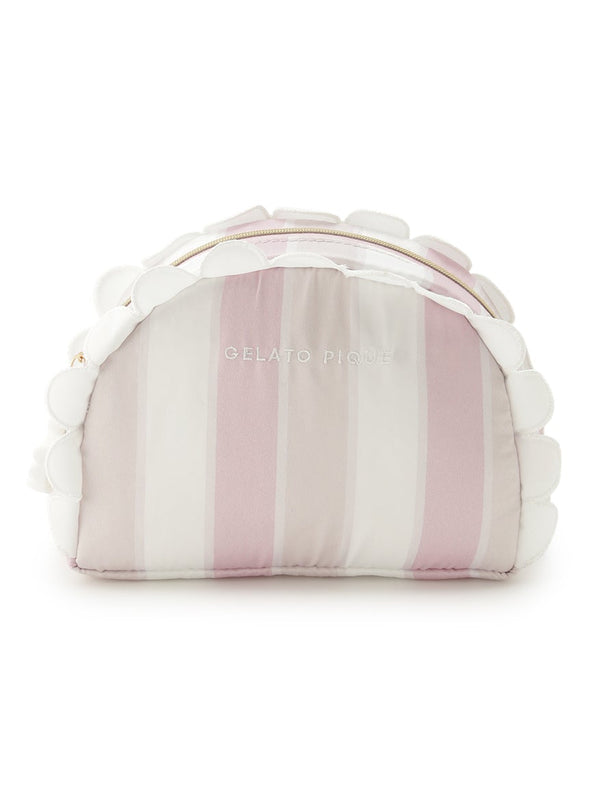 Scalloped Stripe Pouch