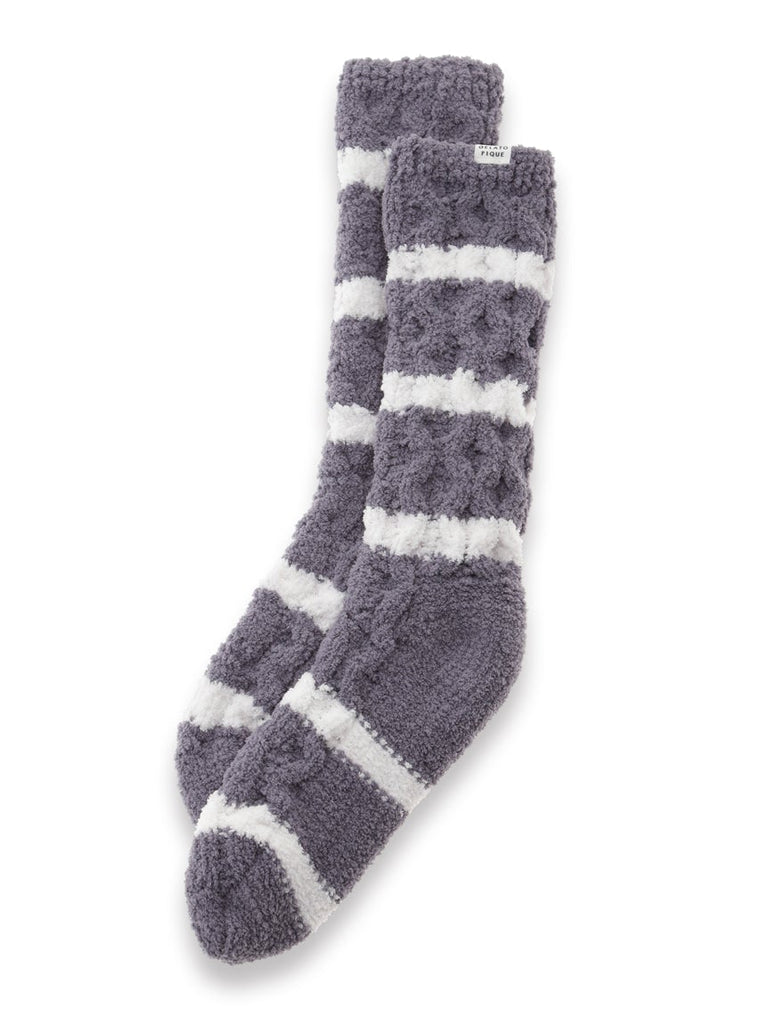 Soufflé Striped Aran Socks (PWGS185507)