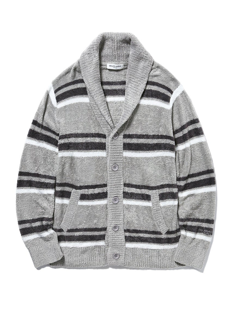 HOMME Smoothie' Border Shawl Cardigan (PMNT191917)