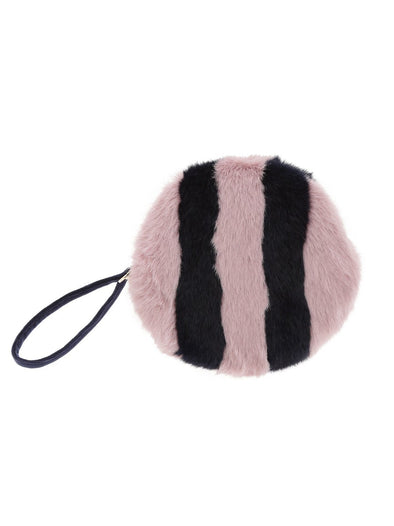 Striped Fur Pouch