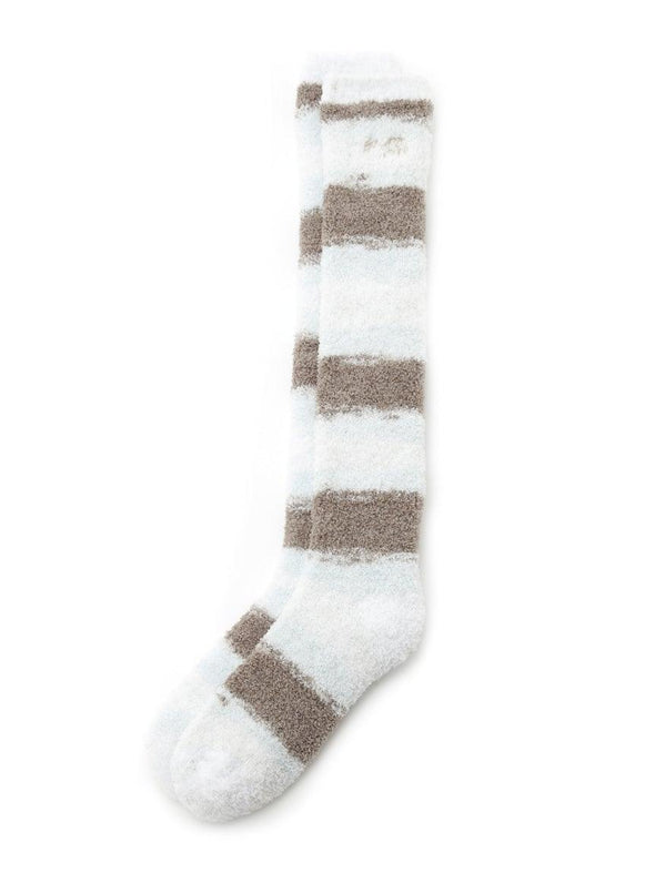 'Powder' Tiramisu Border Long Socks