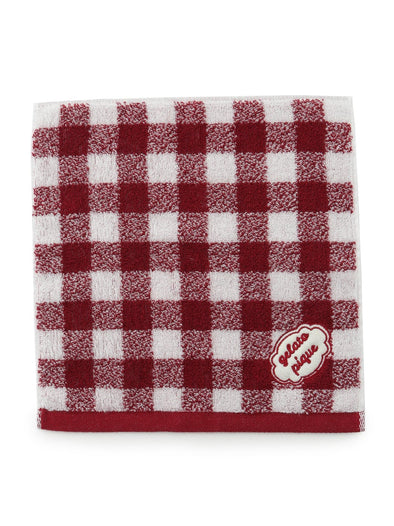 Gingham Check Hand Towel