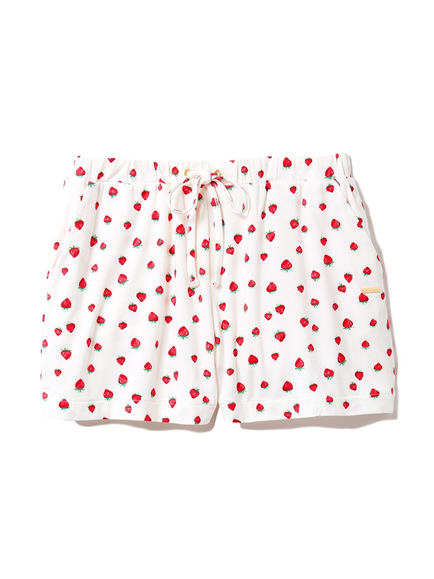 Rayon Strawberry/Leopard Shorts
