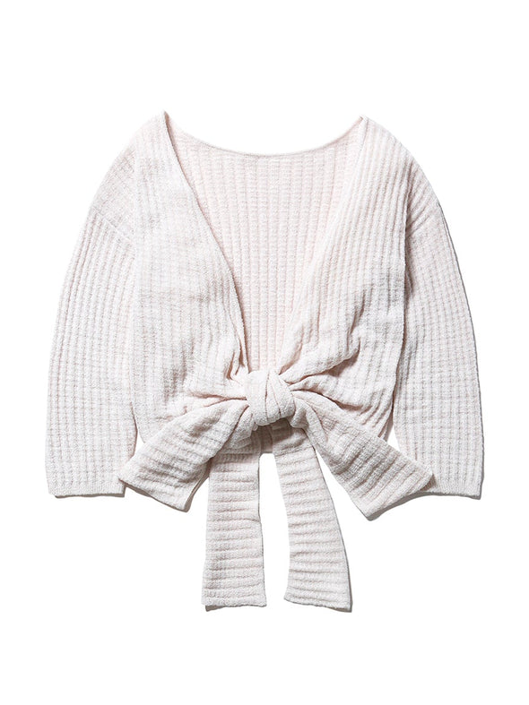 Light Smoothie Waffle Cardigan
