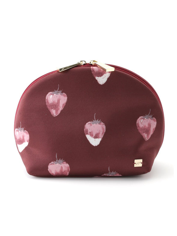 Strawberry Chocolate Satin Pouch
