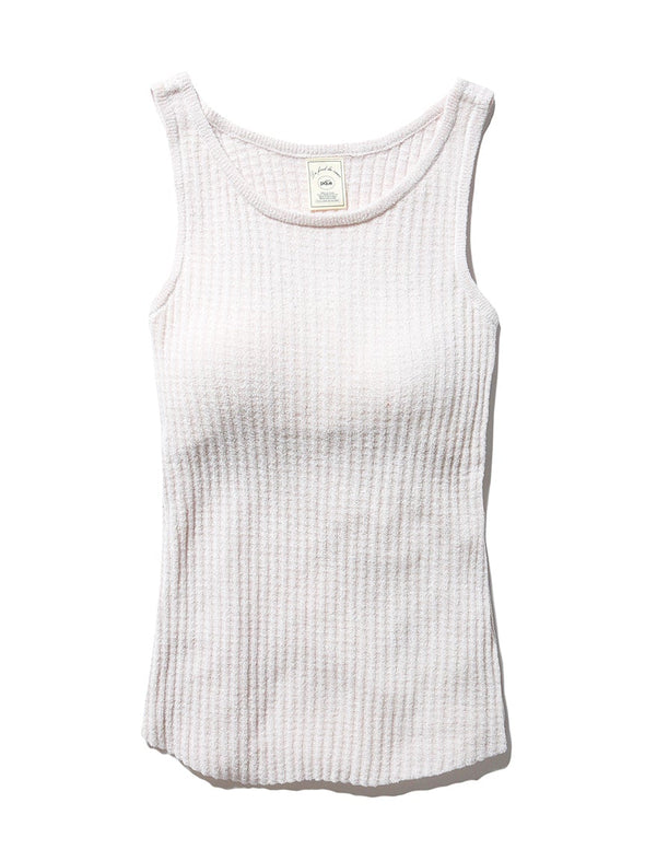 Light Smoothie Waffle Tank Top