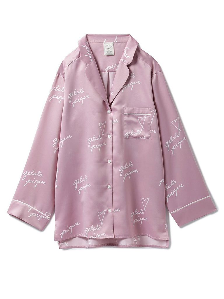 Heart Logo Satin Shirt (PWFT185328)
