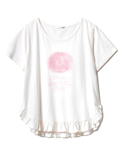 Good Night Frill Tee (PWCT191240)