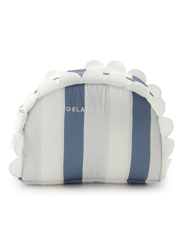 Scalloped Stripe Pouch(PWGB192621)