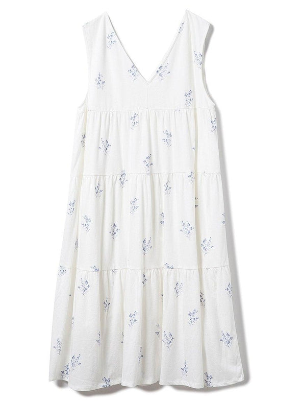 Baby's Breath Patterned Tiered Dress