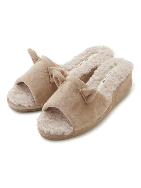 Cat Eco Fur Room Shoes