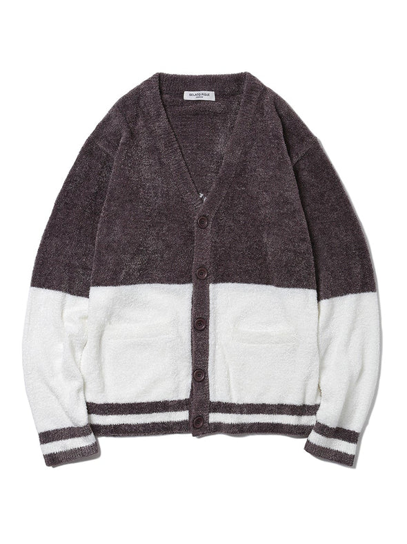 HOMME Smoothie 2 Color Jacquard Cardigan