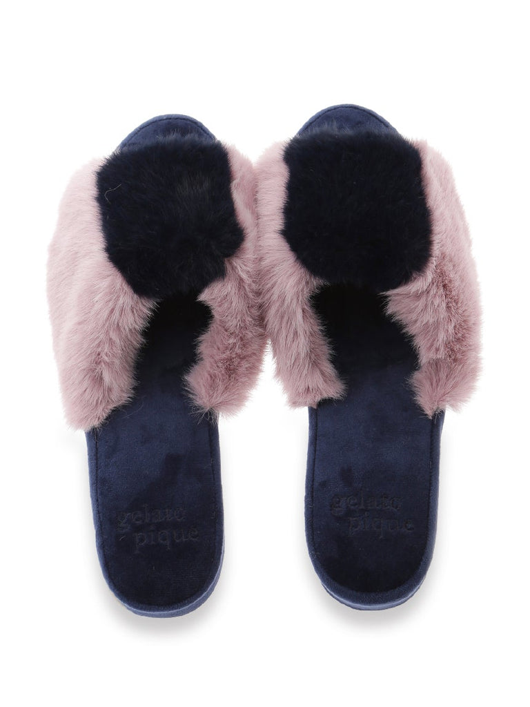 Striped Fur Room Shoes (PWGS185633)