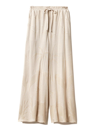 Pile Jacquard Long Pants