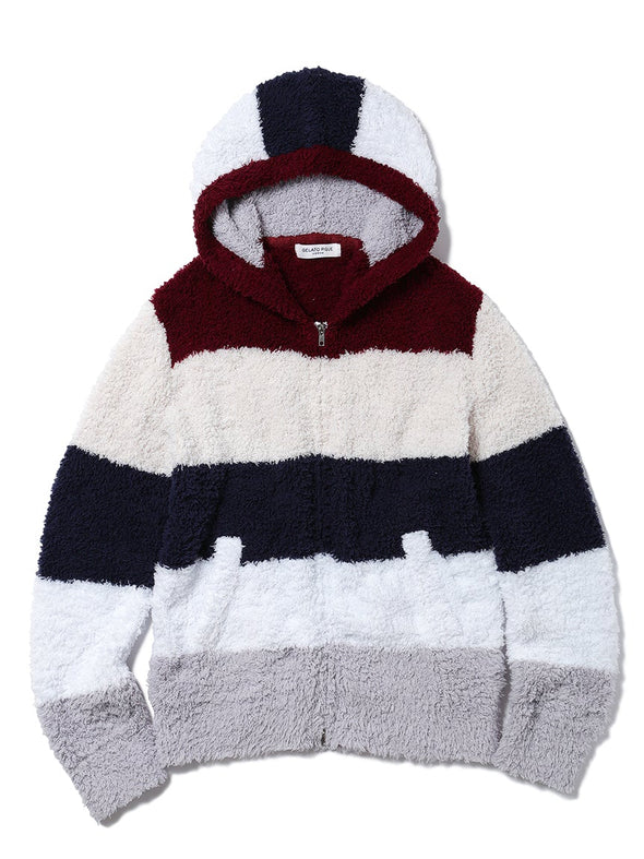 HOMME 'Gelato' Block Striped Parka(PMNT185936)
