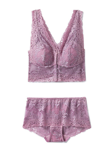 Leaf Lace Bra & Shorts SET