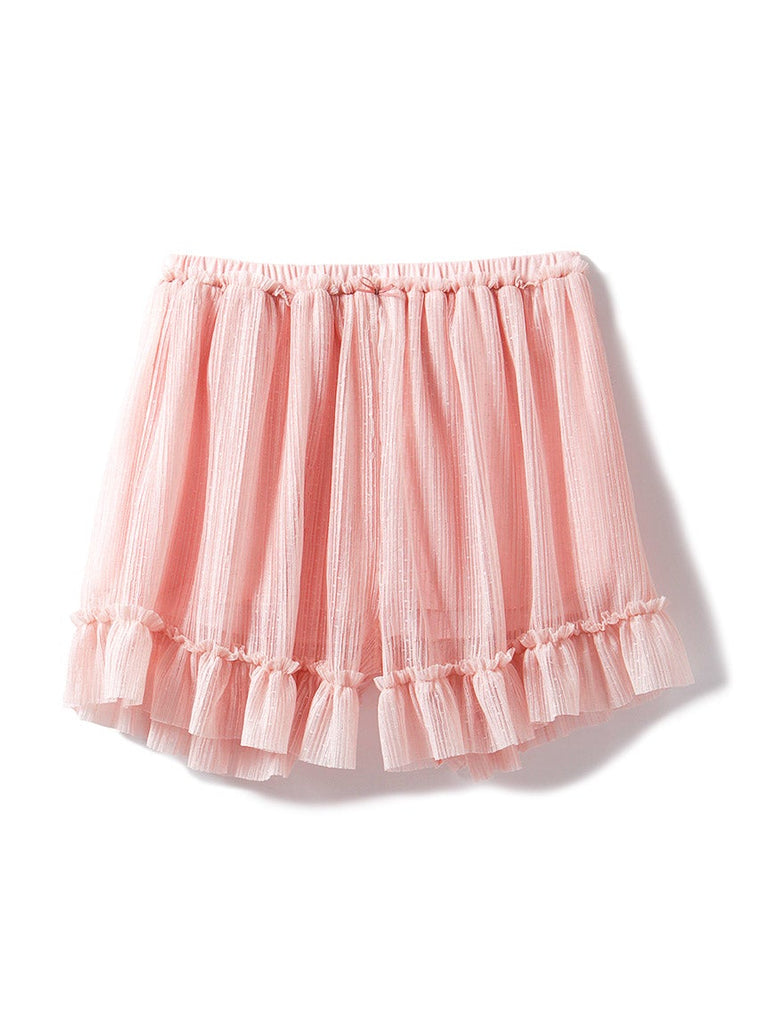 Pleated Tulle Shorts (PWCP185372)