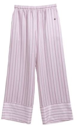 Satin Logo/Stripe Long Pants