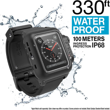 CAT38WAT3BLK-CA | Waterproof Case for 38mm Apple Watch Series 3