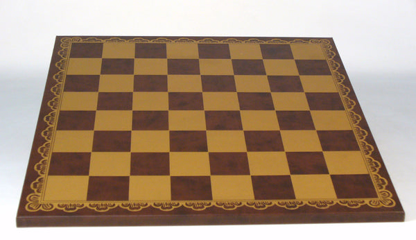 "18"" Brown & Gold Pressed Leather Board"