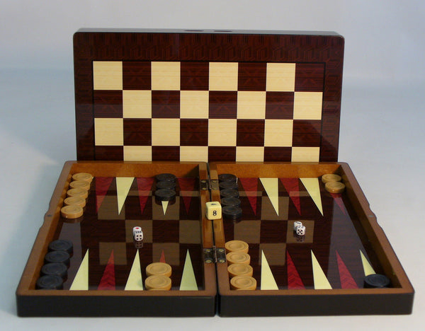 "15"" Simple wood Grain with Chess Board"