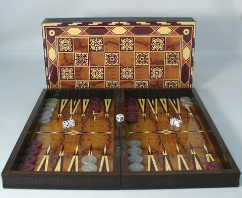 Marrakesh Decoupage Backgammon