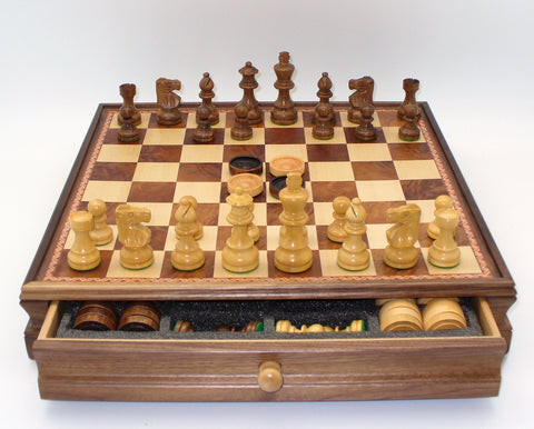 Lardy Chess & Checkers in Chest