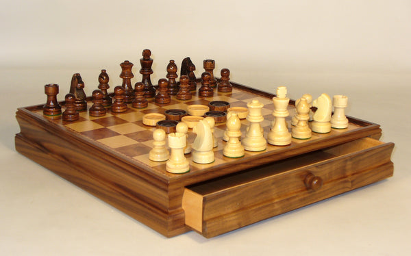 Chess set with Drawer & Checkers