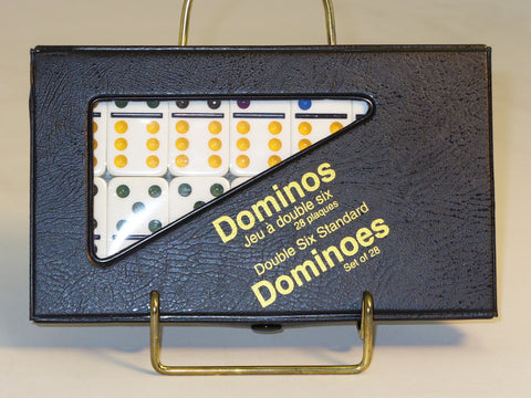 Dbl 6 Color Dot Dominoes