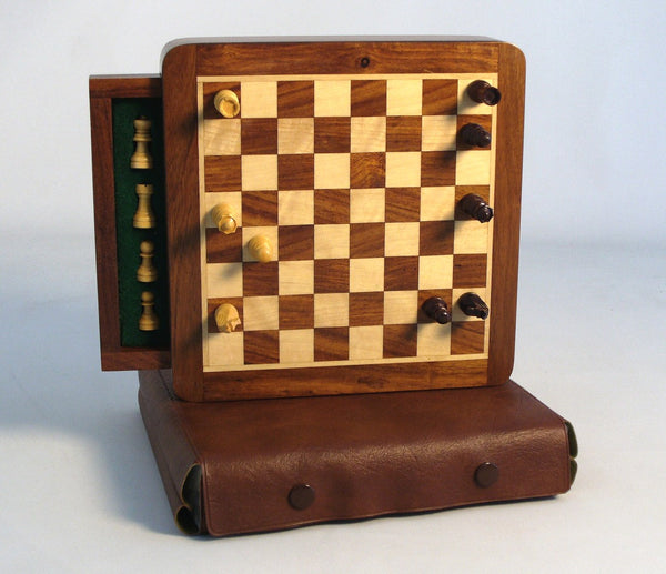 Wood Magnetic Chess with Drawer
