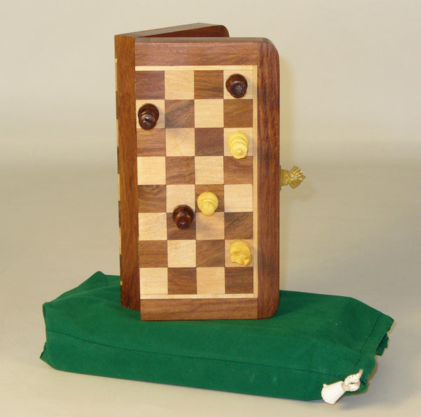 "7"" Folding wood Magnetic Chess"