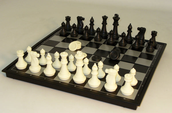 "14"" Magnetic Chess with Checkers"